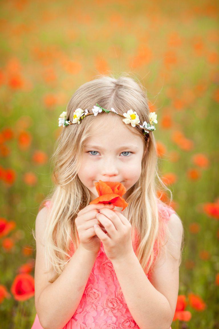 yesido studio fotografia dziewczynka z makiem